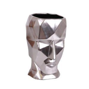 Vase visage argent de la collection EQUINOXE