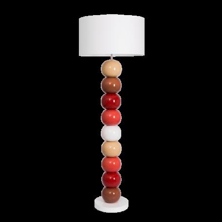 Lampadaire contemporaine boules en céramique couleurs chaudes - modele BOLAS