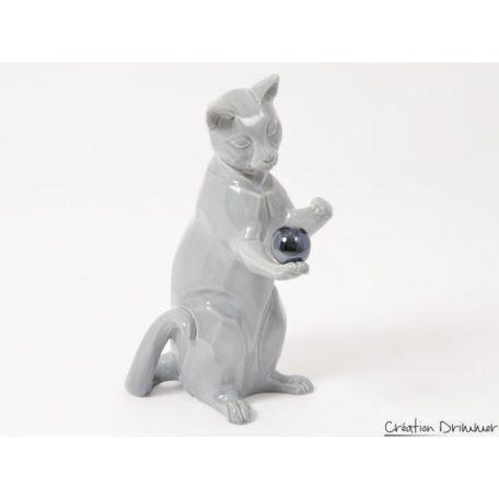 decoration chat gris