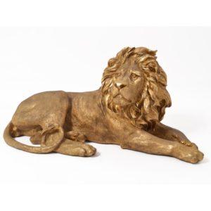 decoration statue sculpture lion bronze or