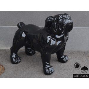 Statue d'extérieur chien outdoor bouledogue noir H.94 cm – EMOTION