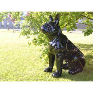 grande Statue XXL chien noir H 160 cm deco interieur ou exterieur jardin