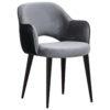 chaise confortable tissu gris