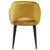 chaise confortable jaune