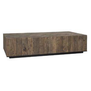 Table basse rectangulaire en vieux chêne motif chevrons – Richmond Interiors – HERRINGBONE