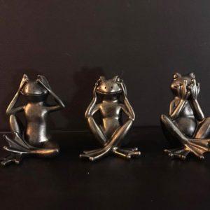 Statuettes grenouilles