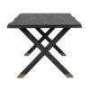 table a manger bois noir pieds or