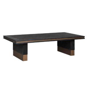 table basse design bois noir