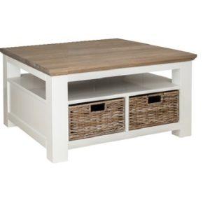 table basse bois osier