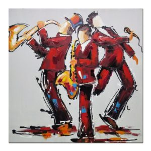 tableau-peinture-groupe-de-musique-musicien-couleurs-rouge-jaune-cadeau-deco