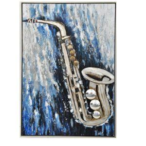 saxophone deco peinture toile