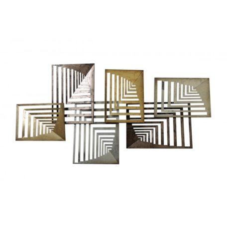 Decoration murale rectangles enchevetres en perspective .