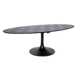 Table ovale BLAX en chene et metal.