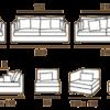 Modeles de canapes fauteuils et meridiennes gamme NOMAD