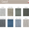 Gamme de couleurs des tissus en lin collection SWEET - Home Spirit