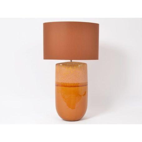 Lampe en céramique orange Hauteur 83cm.