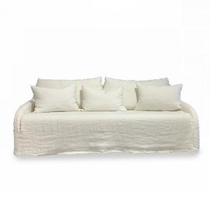 Canapé fixe aux accoudoirs fins et galbés ,fabrication française – Home Spirit – CARNAC
