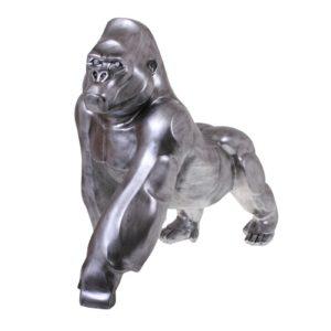 Statue gorille argent de la collection SAFARI