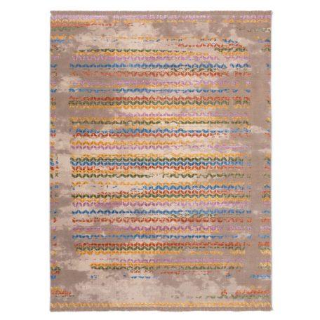 Tapis moderne TROPO beige motif multicolore
