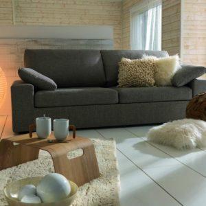 Petit canapé KENT 2 places en tissu gris par Home spirit fabrication francaise