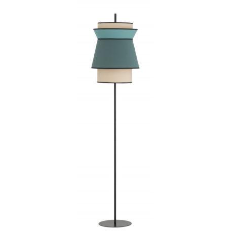 Luminaire BESSA luminaire métal tissus bleu turquoise beige