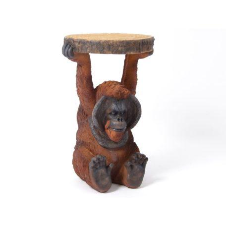 Table d'appoint - table de chevet originale animal singe ourang-outa