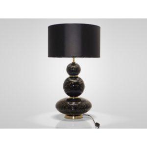 Lampe moderne en verre soufflé noir collection COMPOSITION