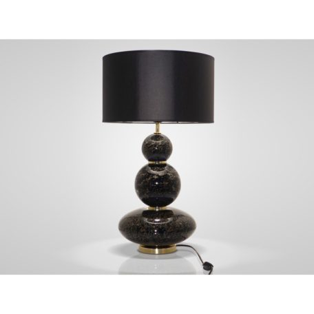 lampe noire verre souffle artisanale drimmer bois&deco