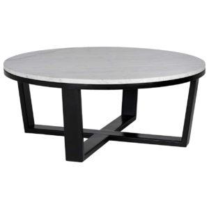 table de salon ronde marbre