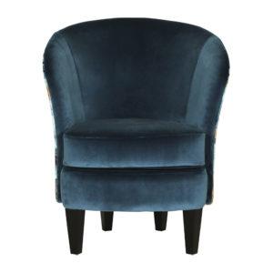 fauteuil bleu canard de qualite