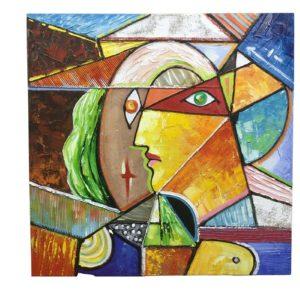 Tableau peinture sur toile VISAGE couleurs style picasso